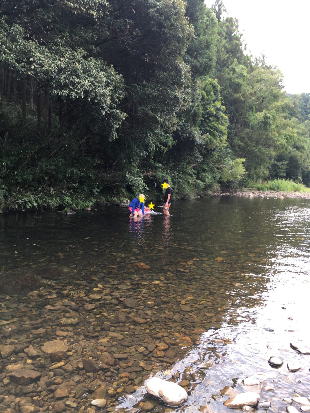 田舎で川遊び♪
