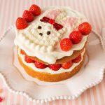 「うさぎショートケーキ」キラキラ☆プリキュアアラモードのオヤツを作ってみました♪【第1話のスイーツ】